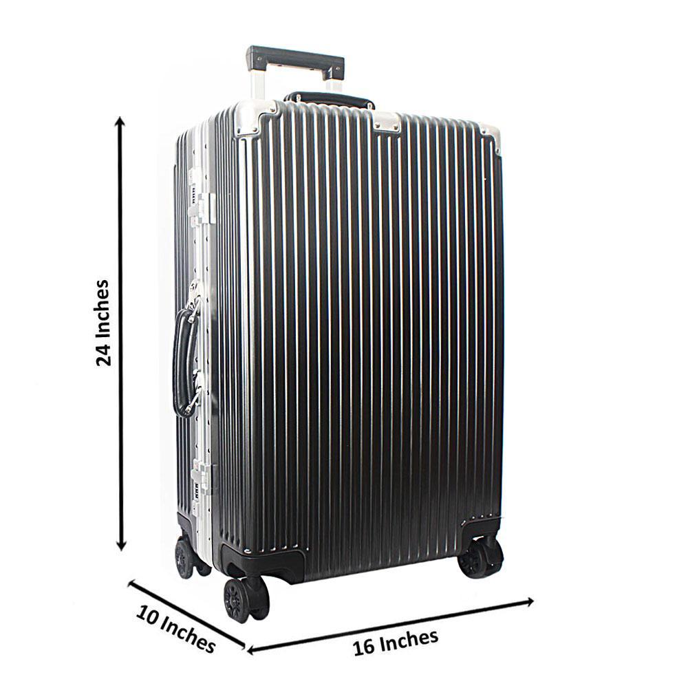 Black 24 Inch Hardshell Medium Suitcase Wt TSA Lock