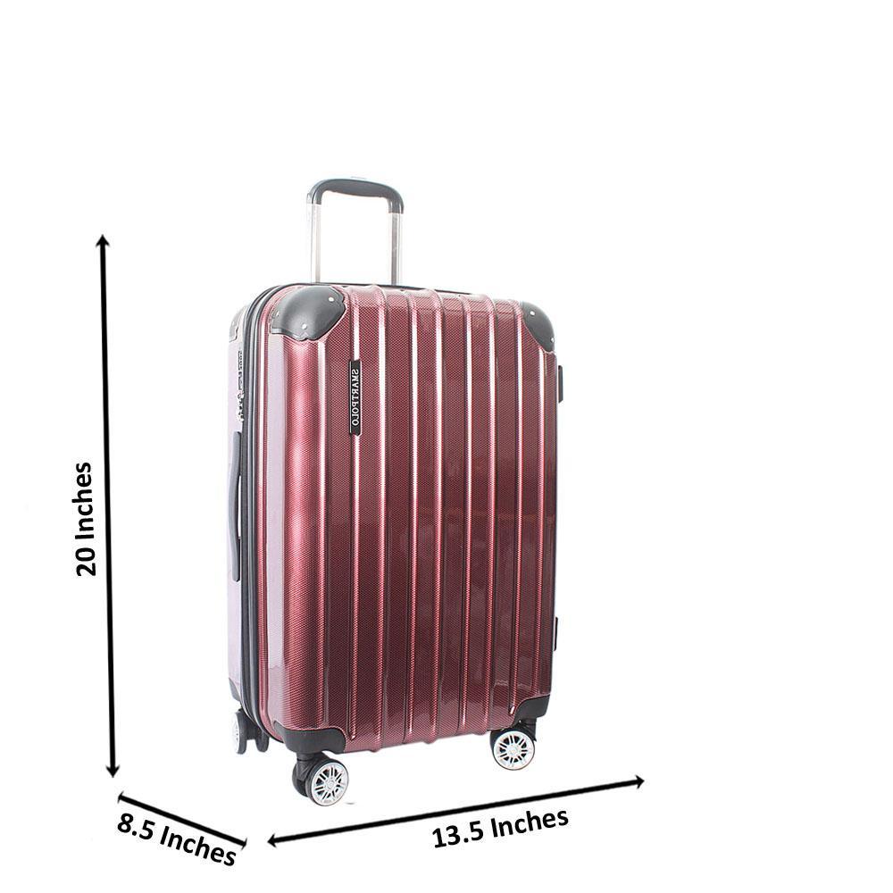 Wine 20 Inch Hardshell Carry On Luggage Wt TSA Lock