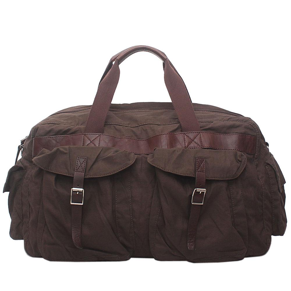 M & S Autograph Brown Fabric Travelling Bag