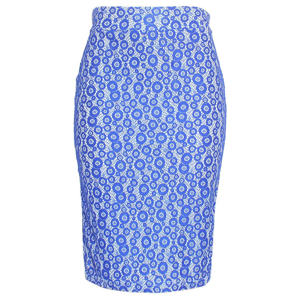 Royal Blue Cotton Stretch Skirt