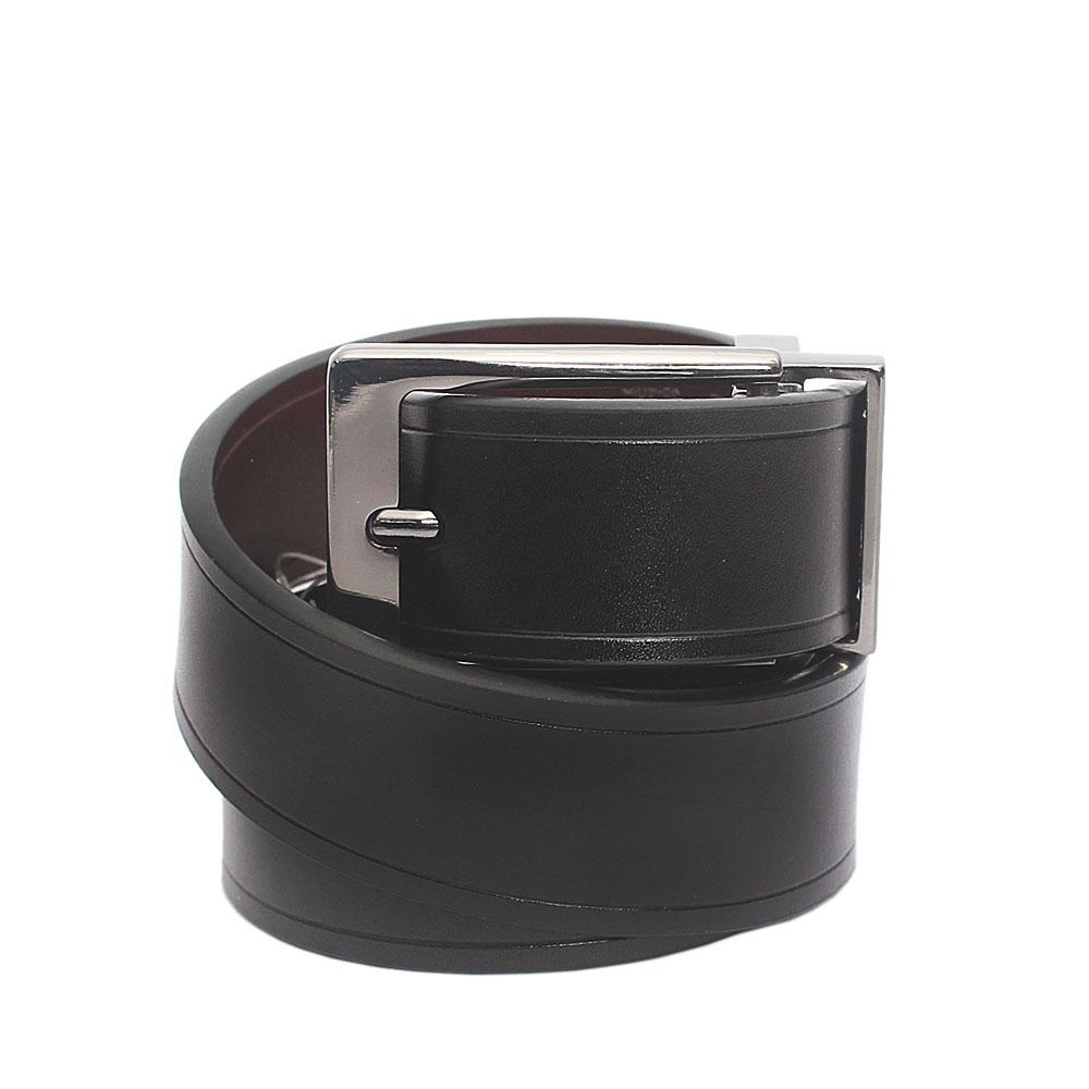 M & S Black Brown Coated Leather Reversible Belt L 44 Inches