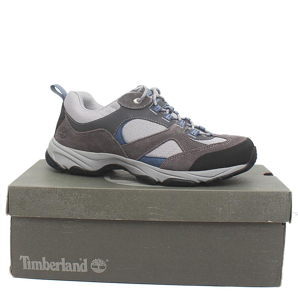 Timberland Ortholite Gray Fabric Leather Men Sneakers