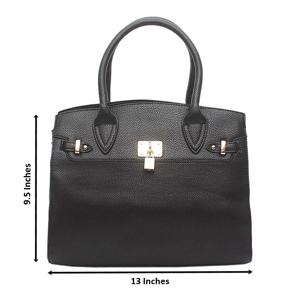Avatar Black Leather Tote Bag