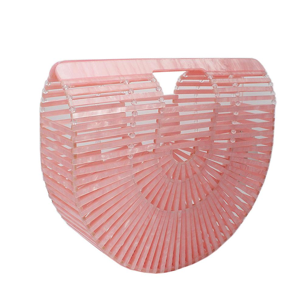Baby Pink Ark Acrylic Clutch Purse