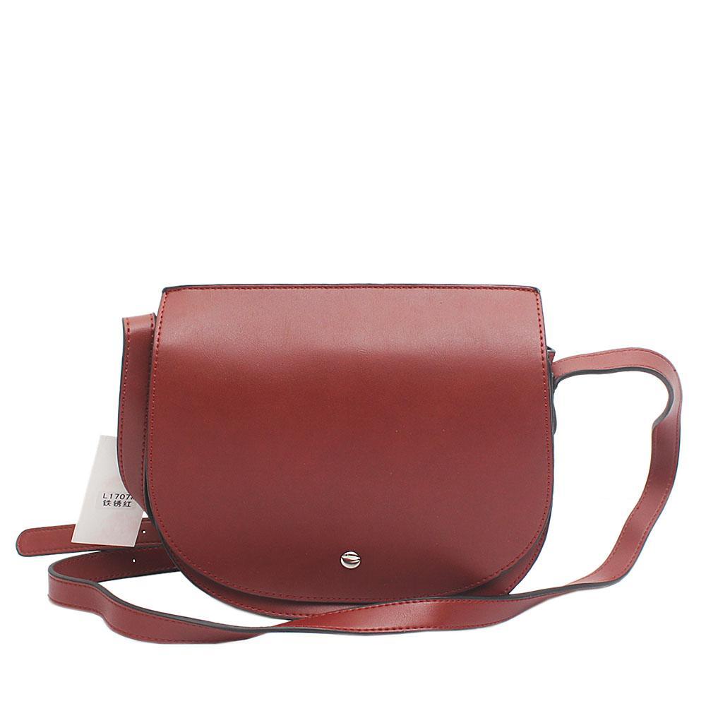Bae Wine Leather Crossbody Bag
