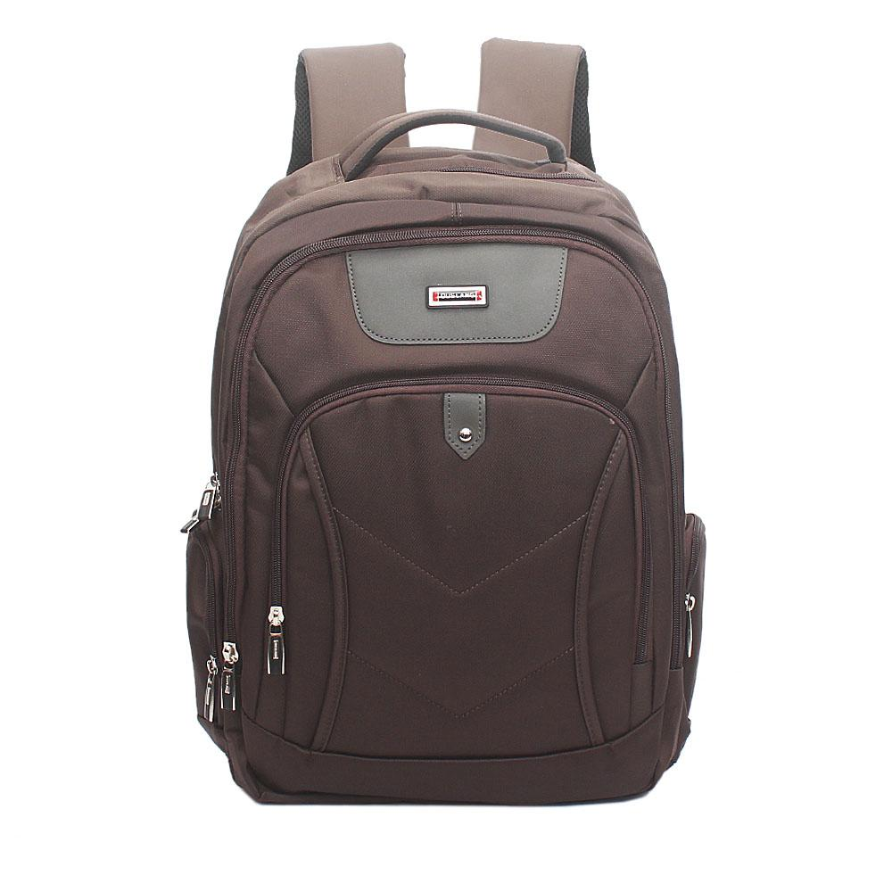 Duslang Brown Fabric Laptop Backpack