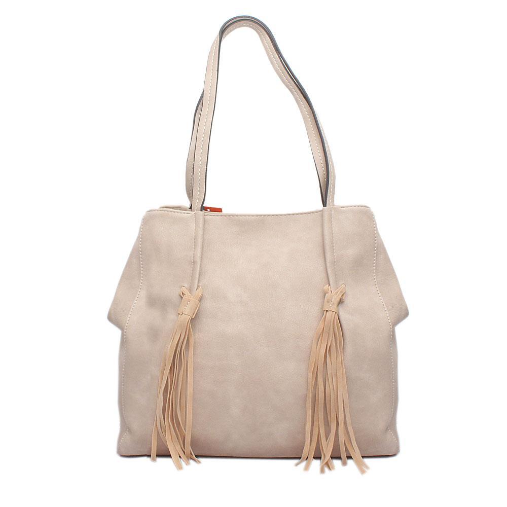 Jewel Beige Leather Bag
