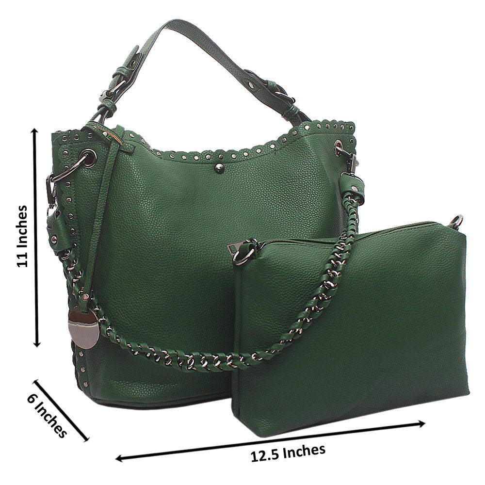 Green Artsy Medium Leather Handbag