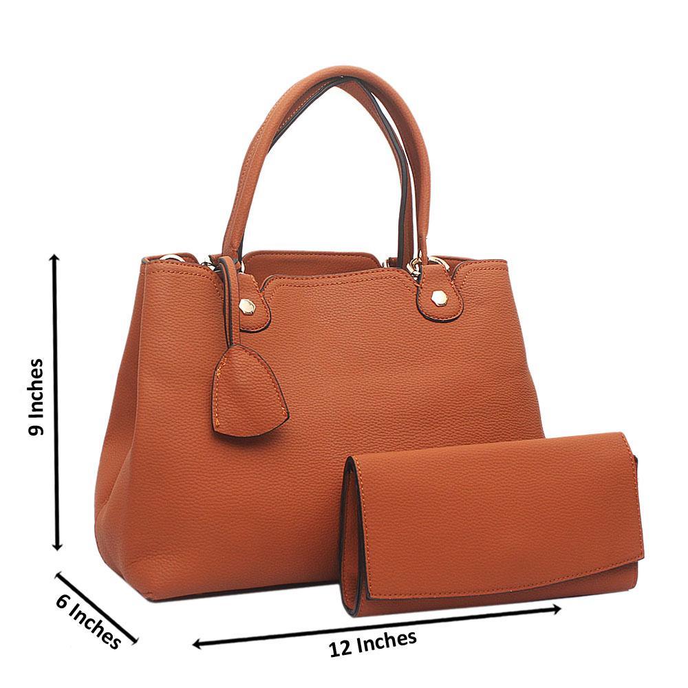 Brown Malinda Medium Leather Handbag