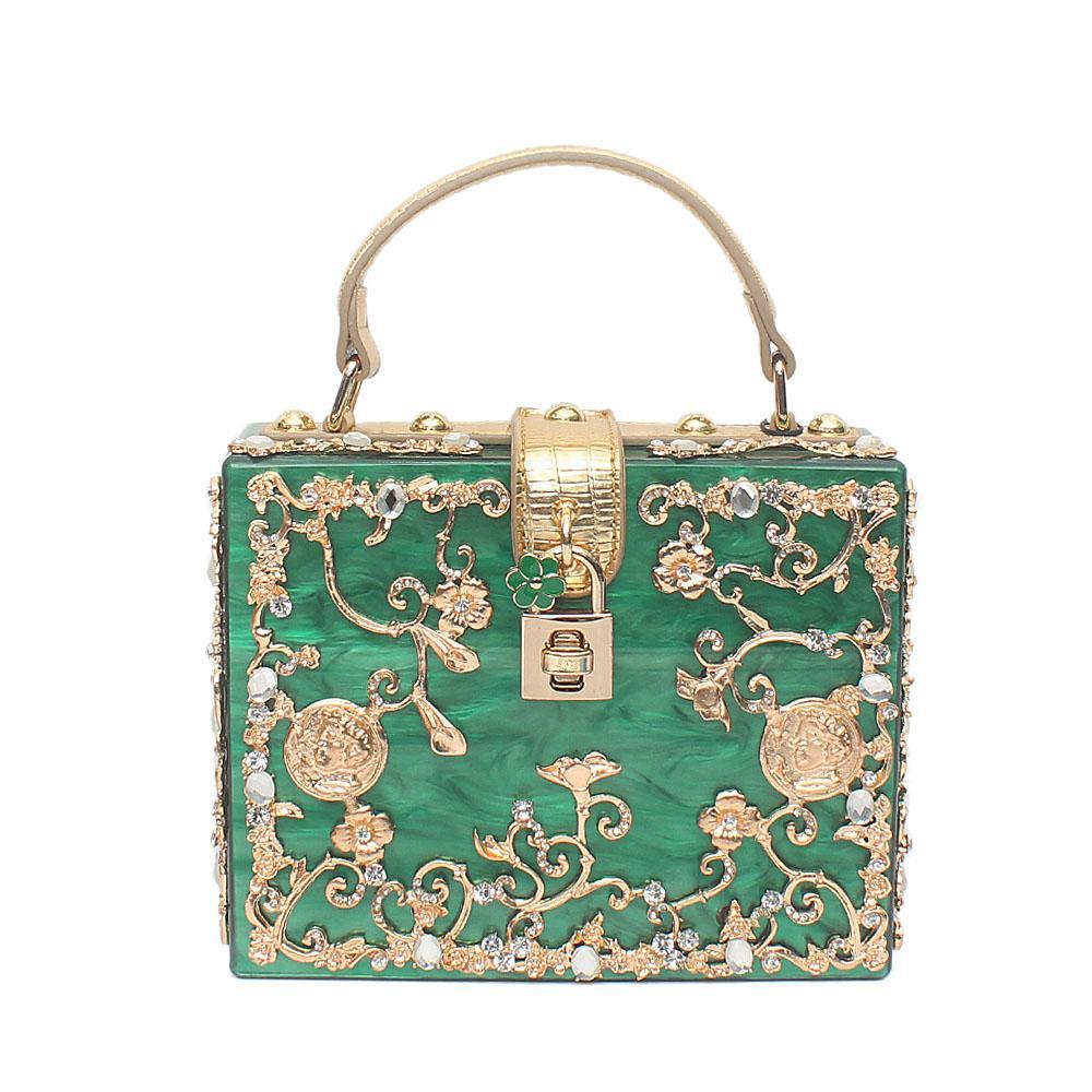Emily Green Plastic Box Bag