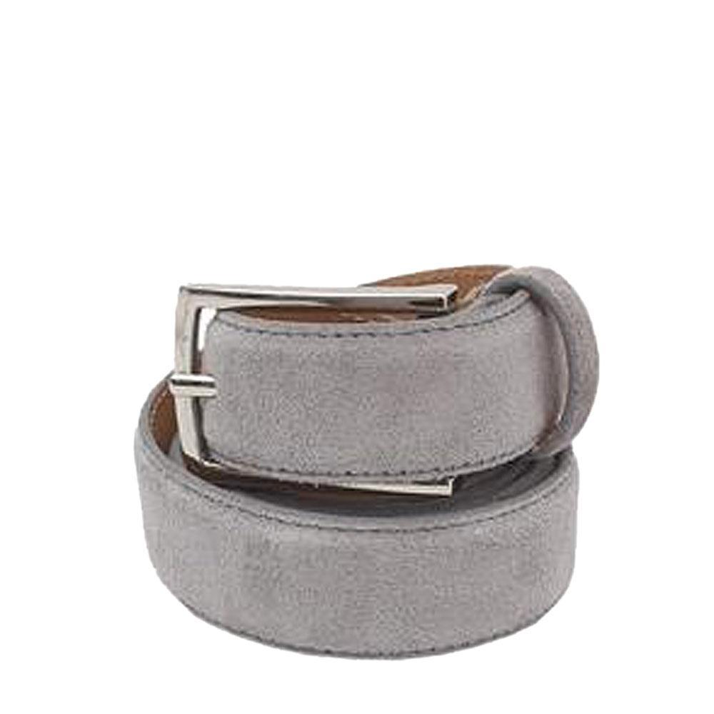 Collezione Gray Men Suede Leather Belt -45 Inches