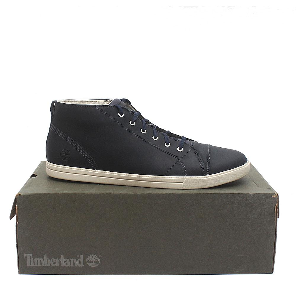 Timberland Fulk Cap Toe Navy Exotic Leather Men Sneakers