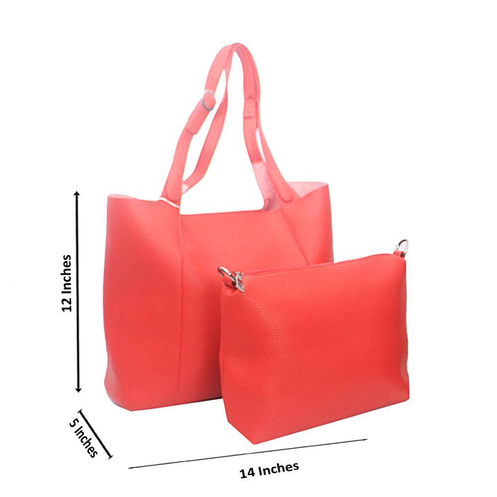 Red Candy Tandy Leather Shoulder Handbag