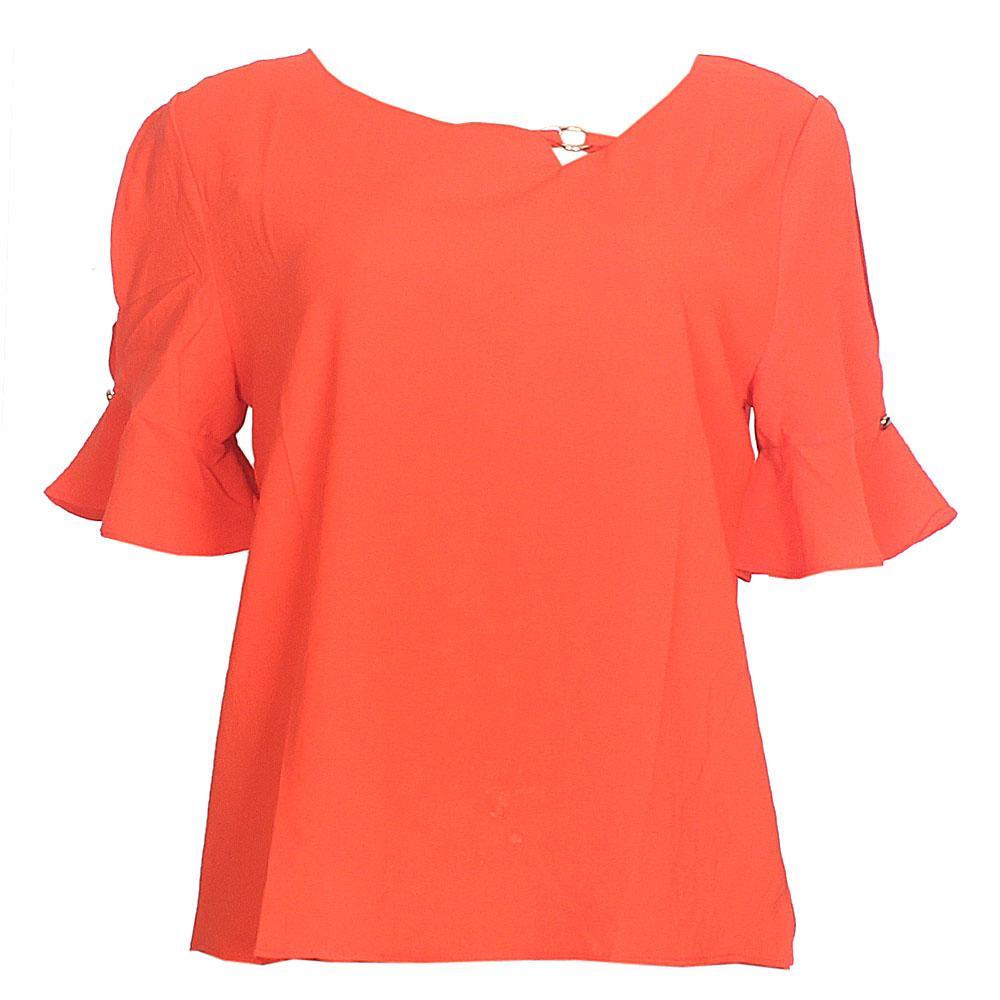 MXY Orange Cotton S/Sleeve Ladies Top