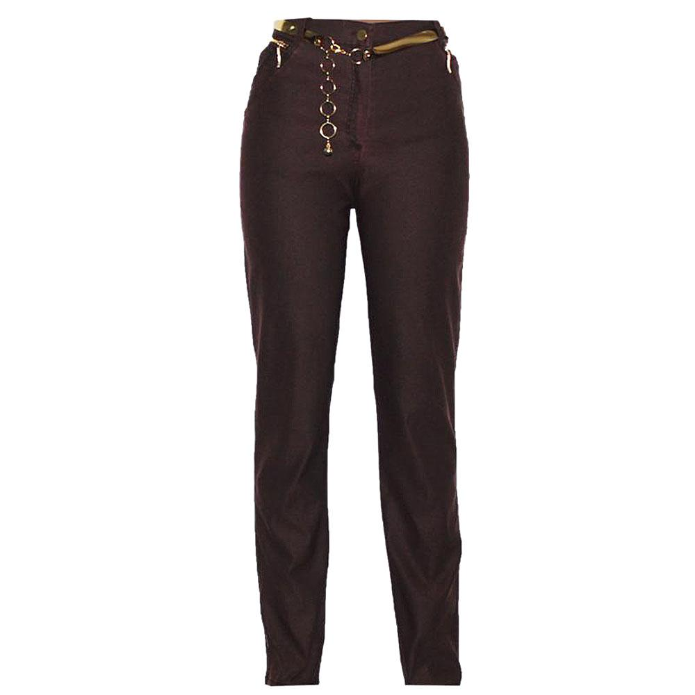Ecce Wear Coffee Ladies Jeggings wt Belt-Eur 42