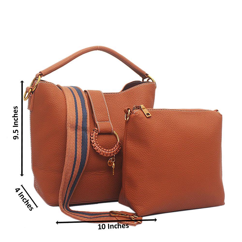 Brown Leather Medium Fayre Bag