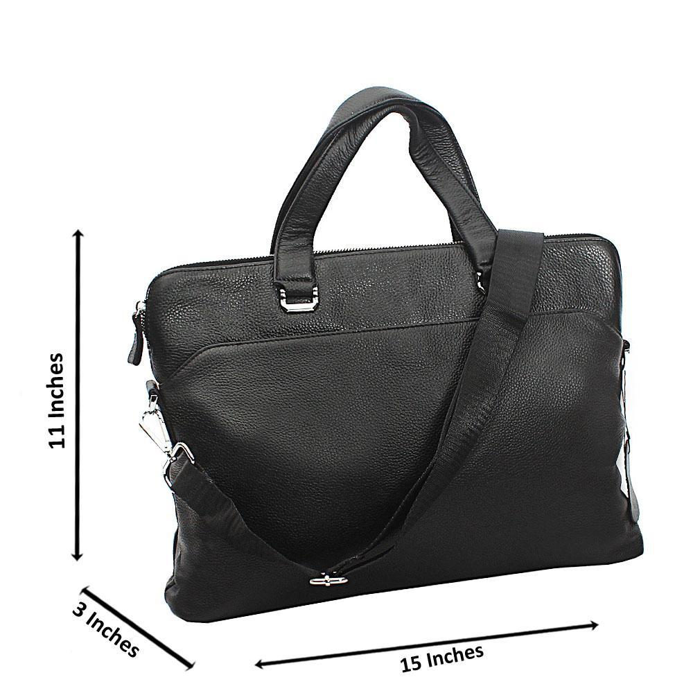 Black Lincoln Tuscany Leather Business Man Bag