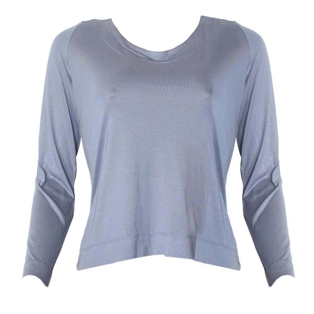 M & S Autograph Bluish Gray L/Sleeve Ladies Top