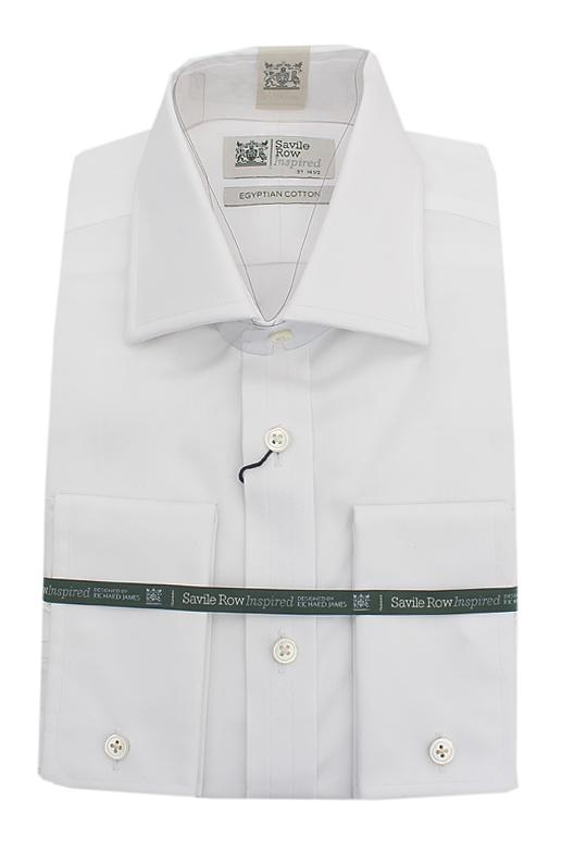 Savile Row White Egyptian Cotton L/Sleeve Men Shirt