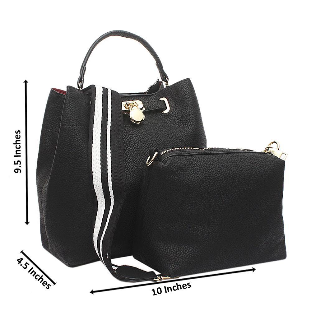 Black Josephine Medium Leather Handbag