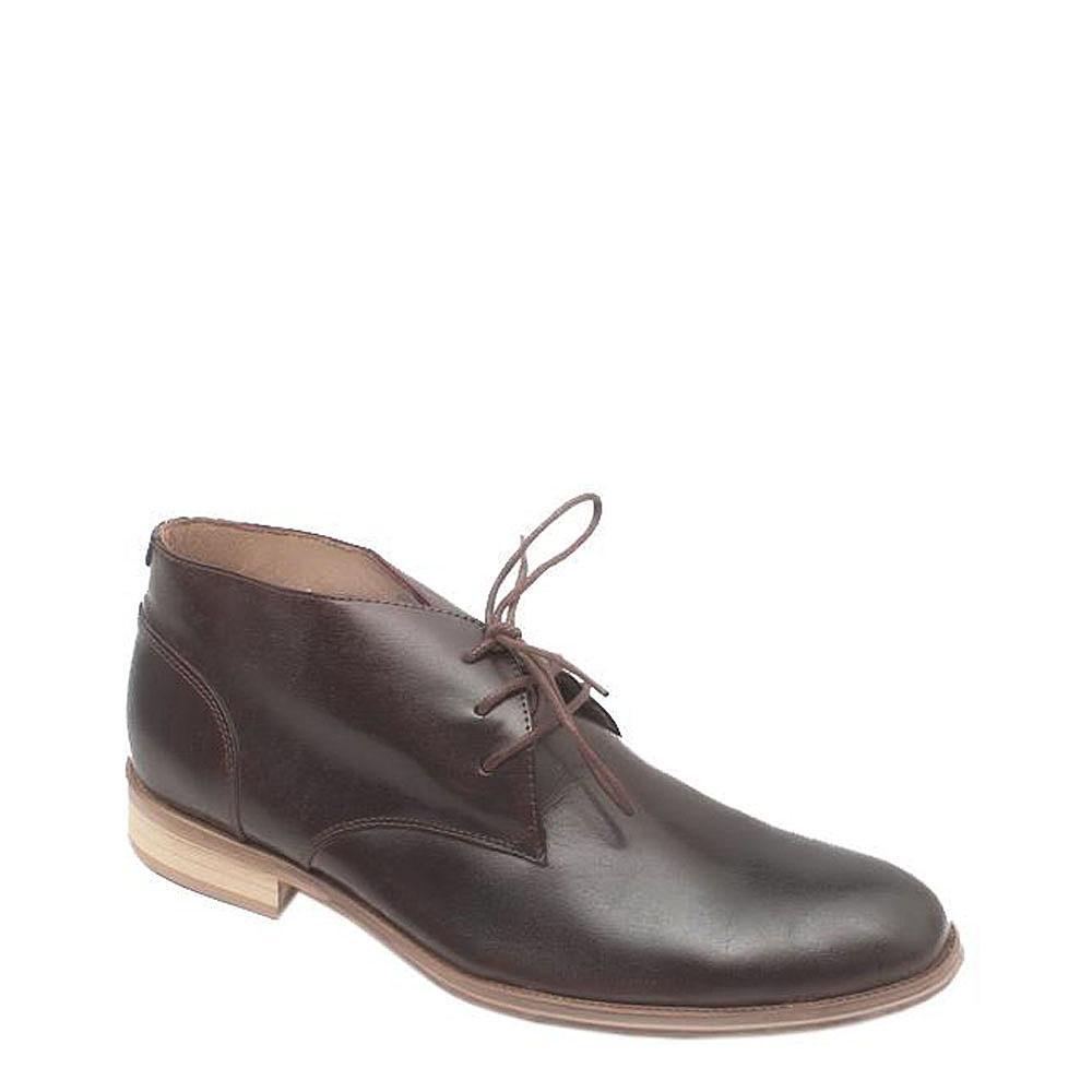 Aldo Brown Leather Lace-up Men's Ankle Shoe-Sz 43