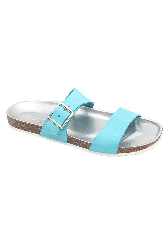 M&S Collection Blue Silver Ladies Birkenstock
