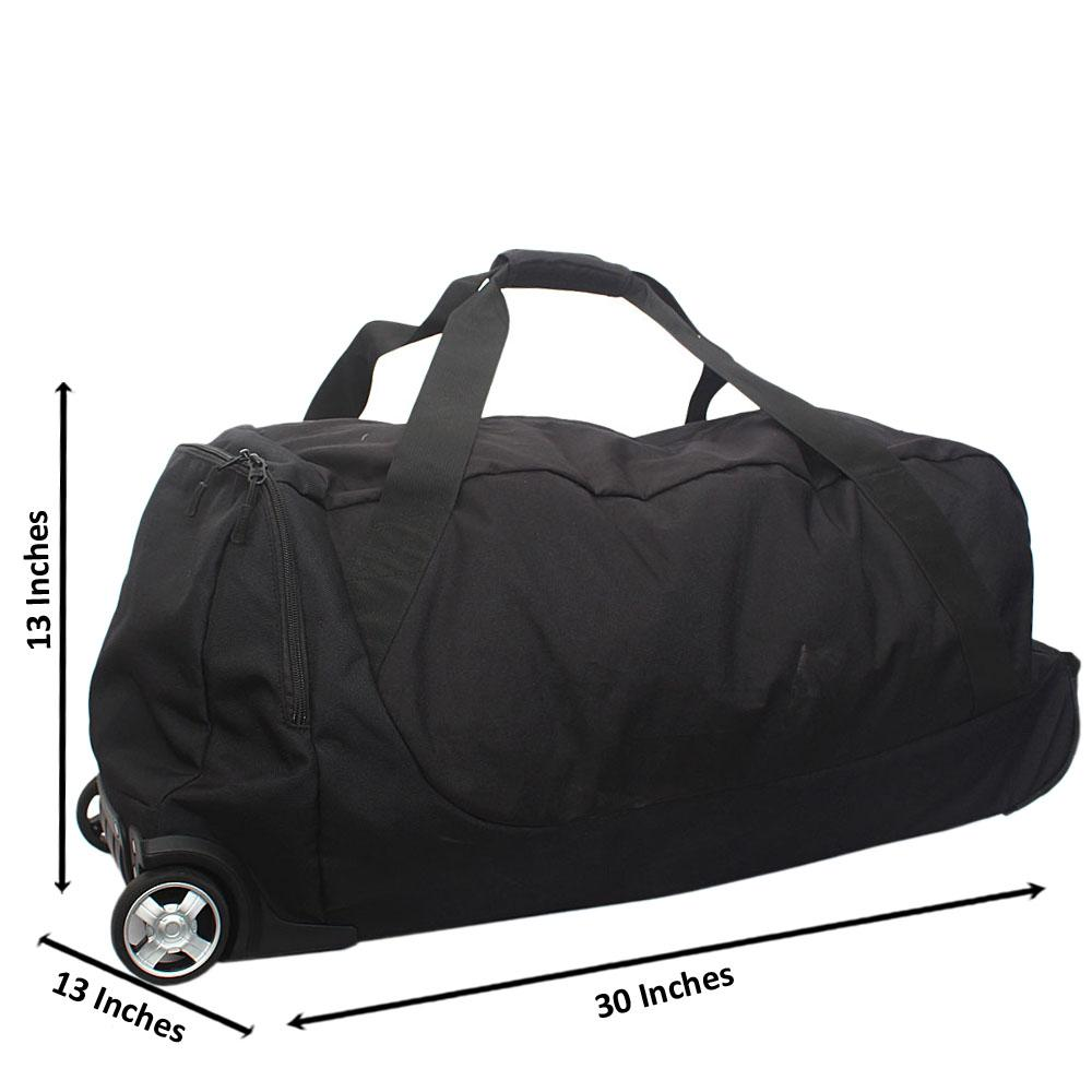 Timberland Black 30 Inch Fabric 2 Wheels Foldable Medium Luggage