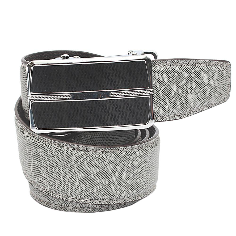 Grey Exotic Leather Belt L 44 Inches