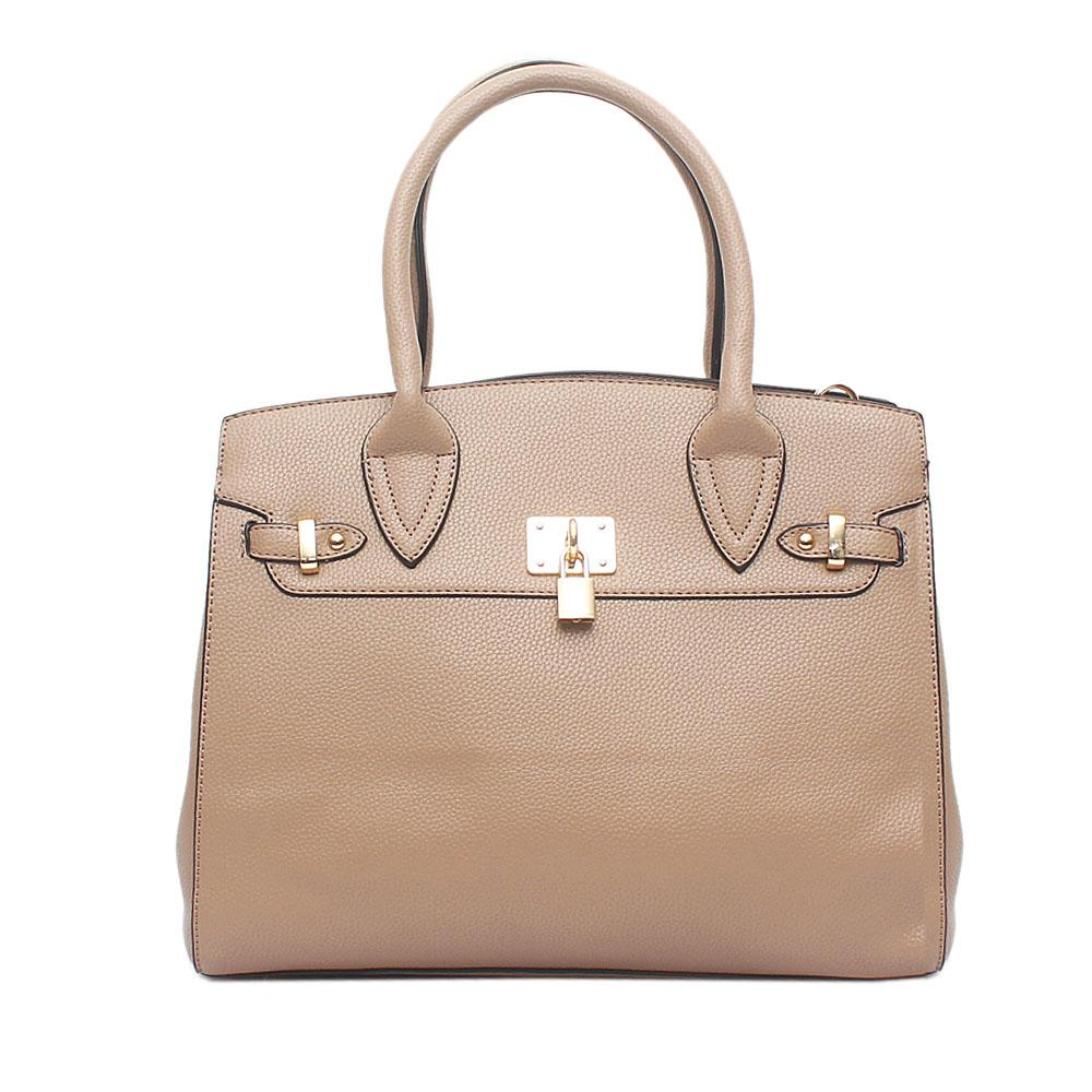 Avatar Khaki - Brown Leather Tote Bag