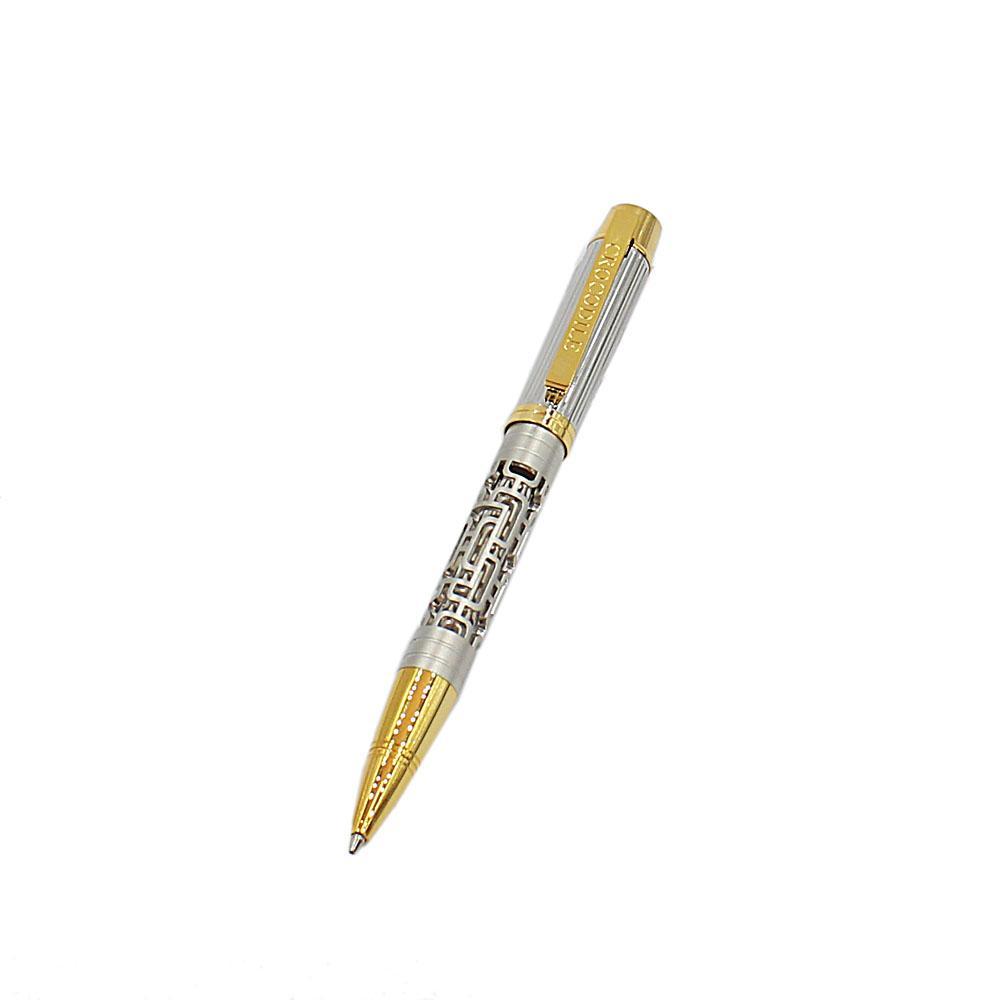 Silver Gold Skeletal Ballpoint Pen