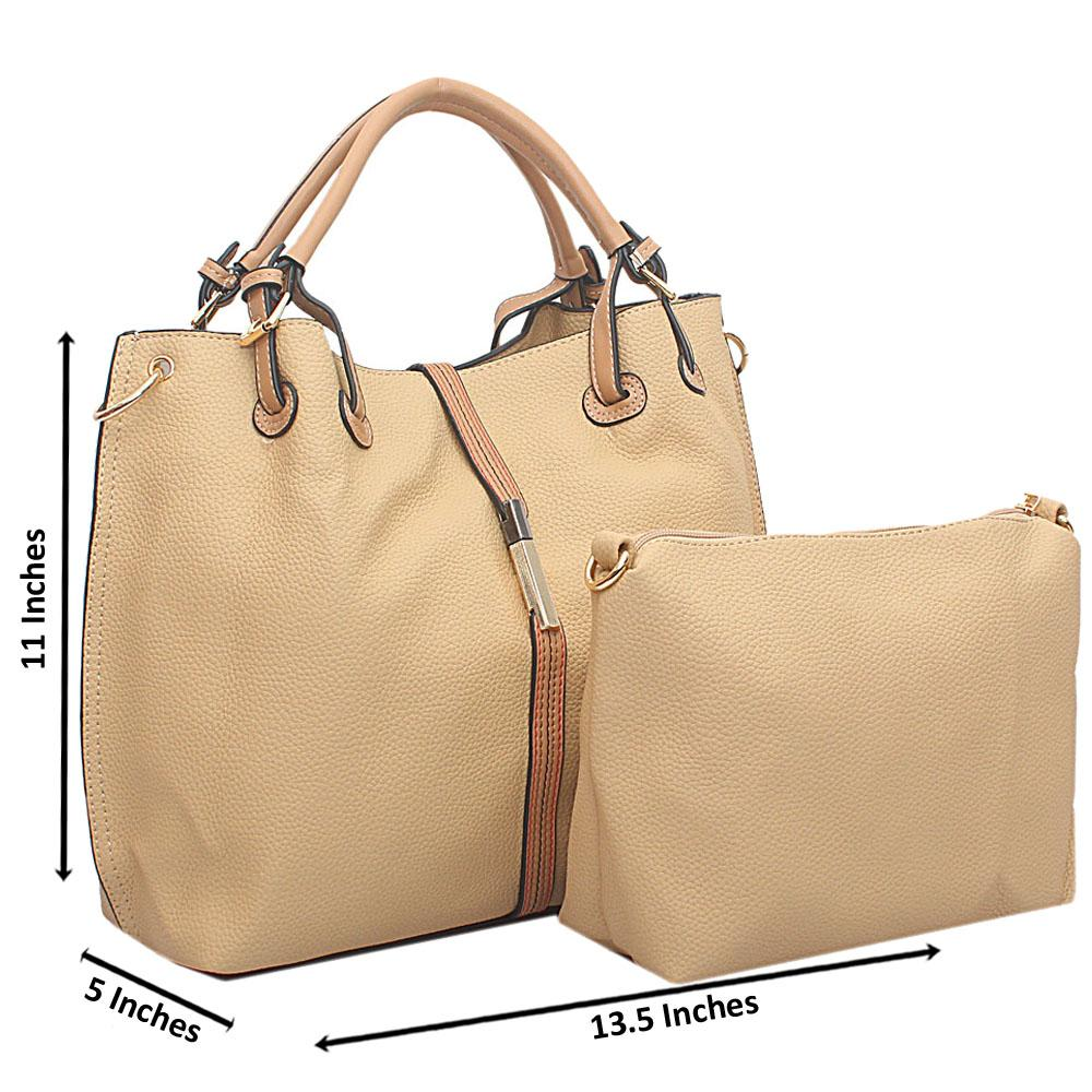 Khaki Oxygen Leather Handbag