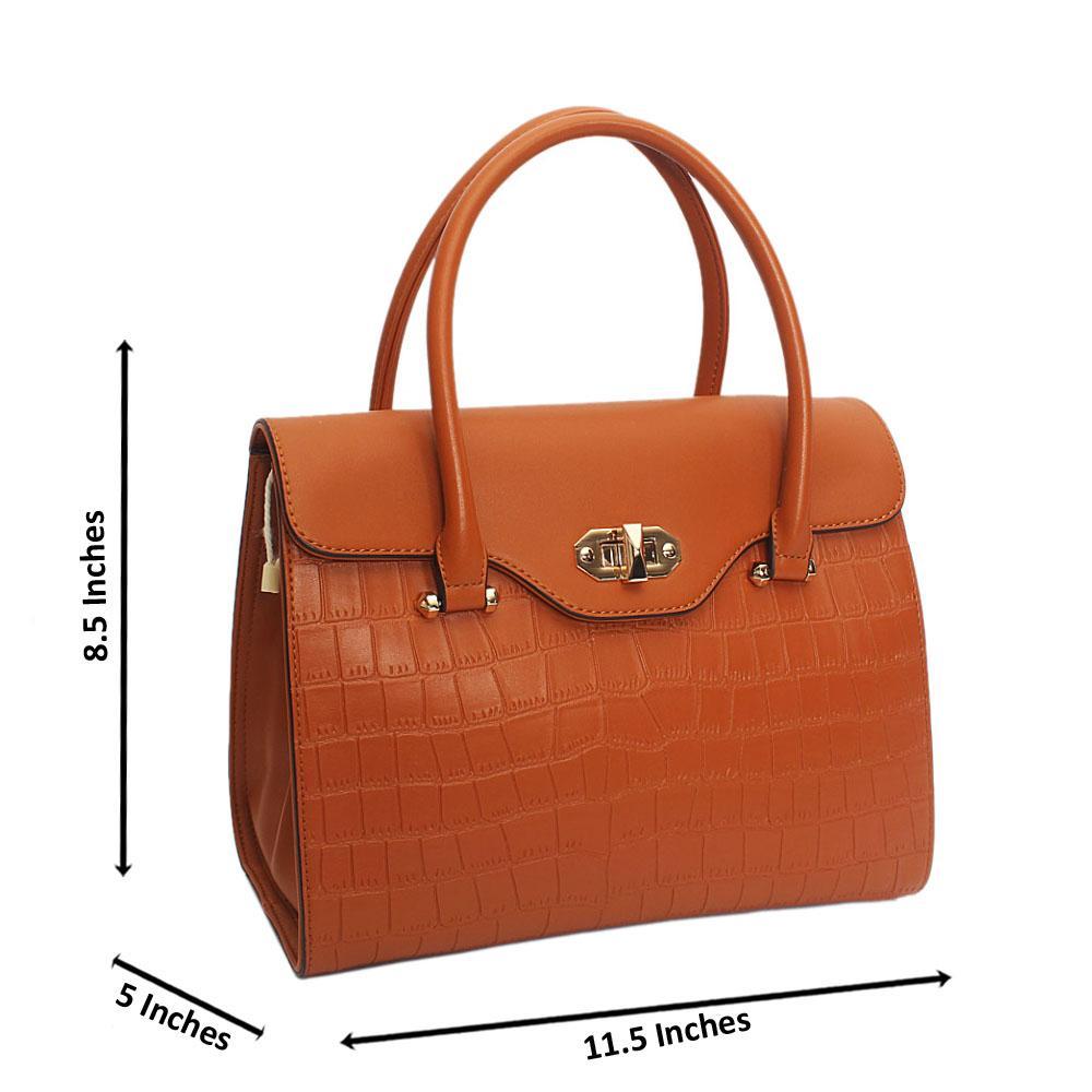 Susen Brown Lotti Smooth Leather Tote Handbag