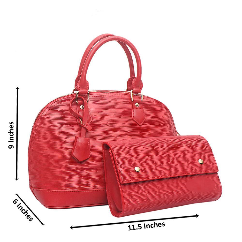 Red Medium Alma BB Leather Bag Wt Purse