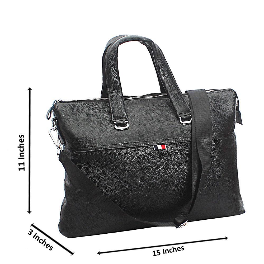 Black Hari Tuscany Leather Business Man Bag