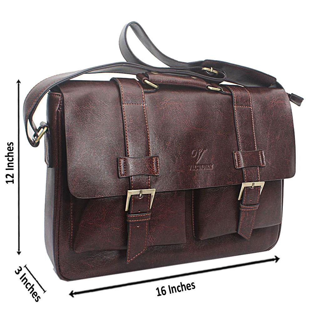 Dark Victoria Leather Messenger Bag