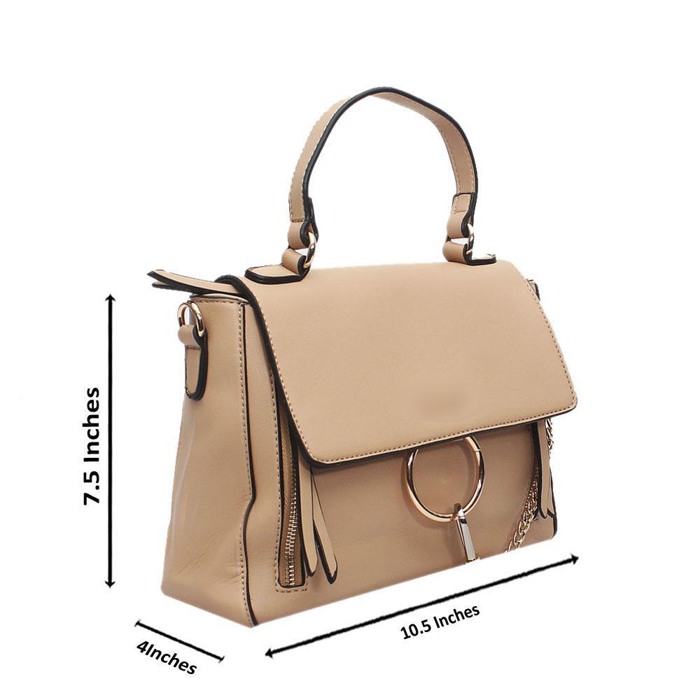 Khaki Leather Small Faye Day Bag