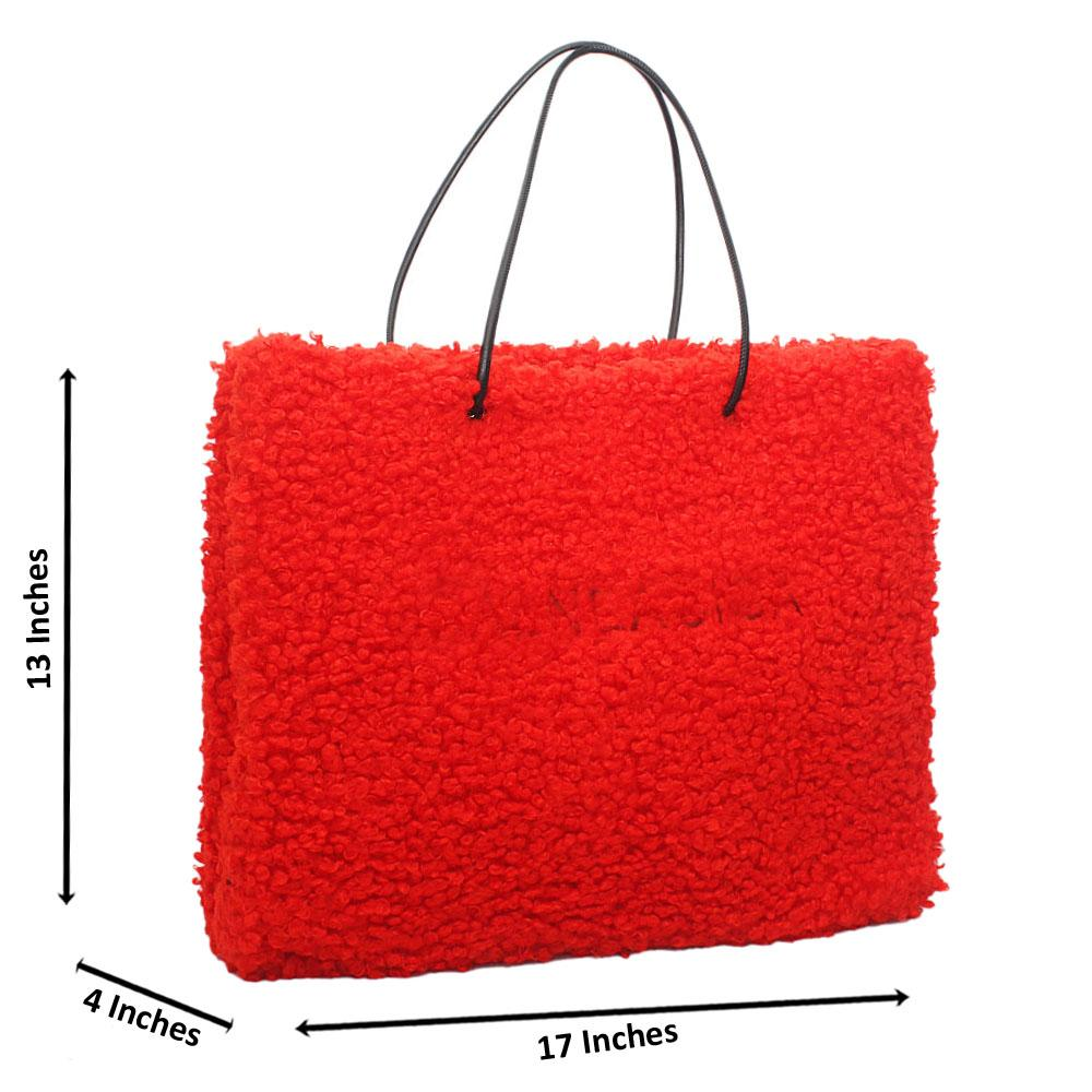 Red Fury Tote Handbag