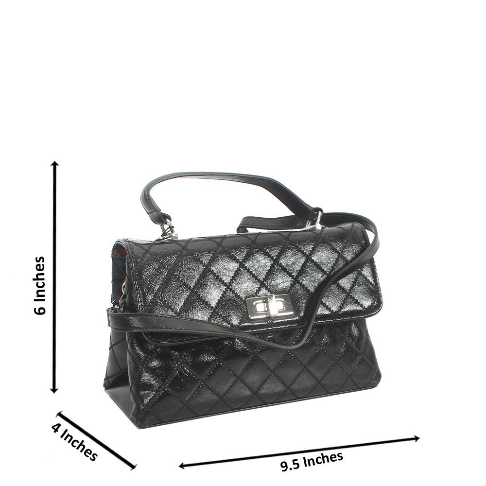 Black Jaafan Tuscany Leather Mini Handbag
