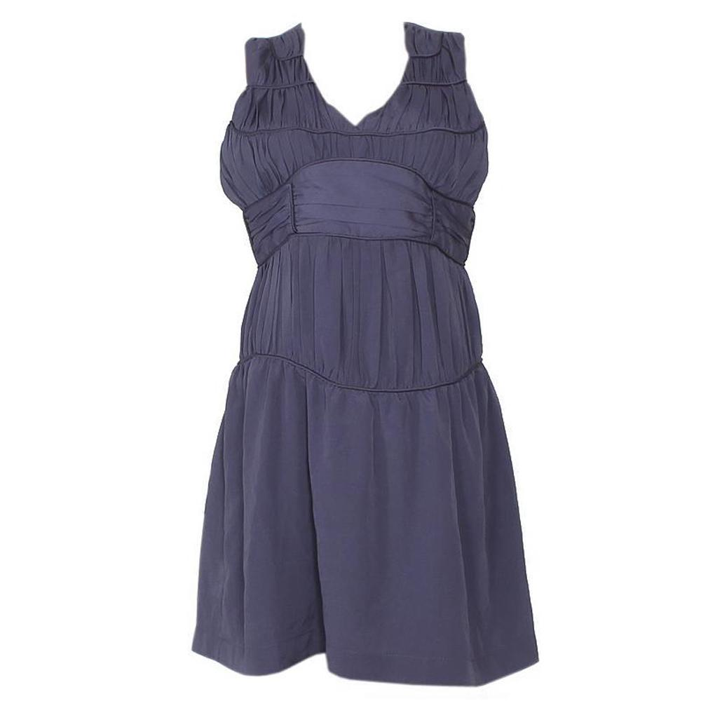 Esley  Gray Cotton Ladies Armless Dress-Uk 12 L 35
