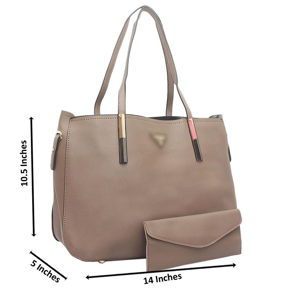 Khaki Milano Medium Leather Handbag