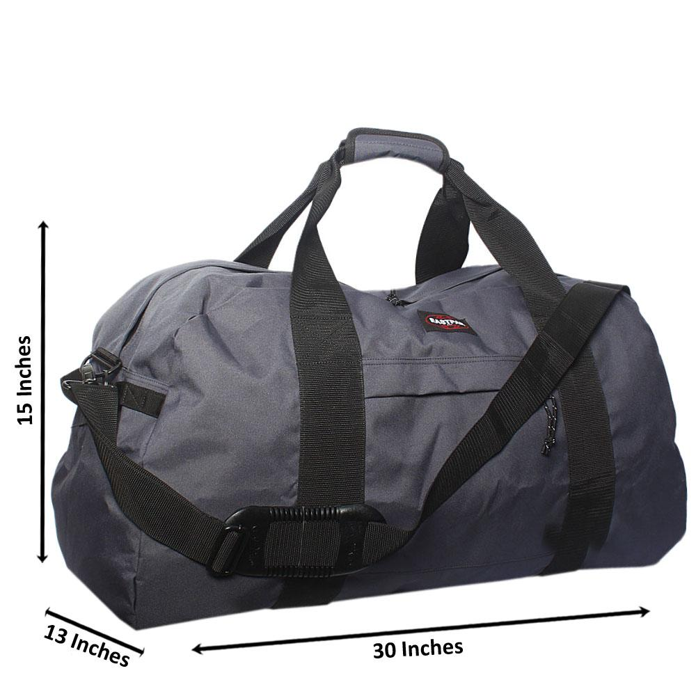 Eastpak Gray Cordura Fabric Large Duffel Bag