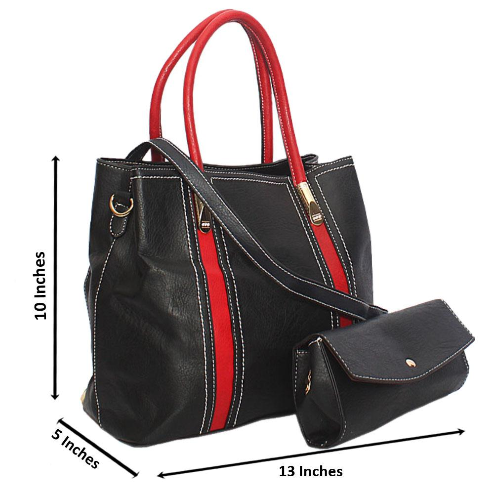 Black-Red-Ameira-Leather-Tote-Handbag