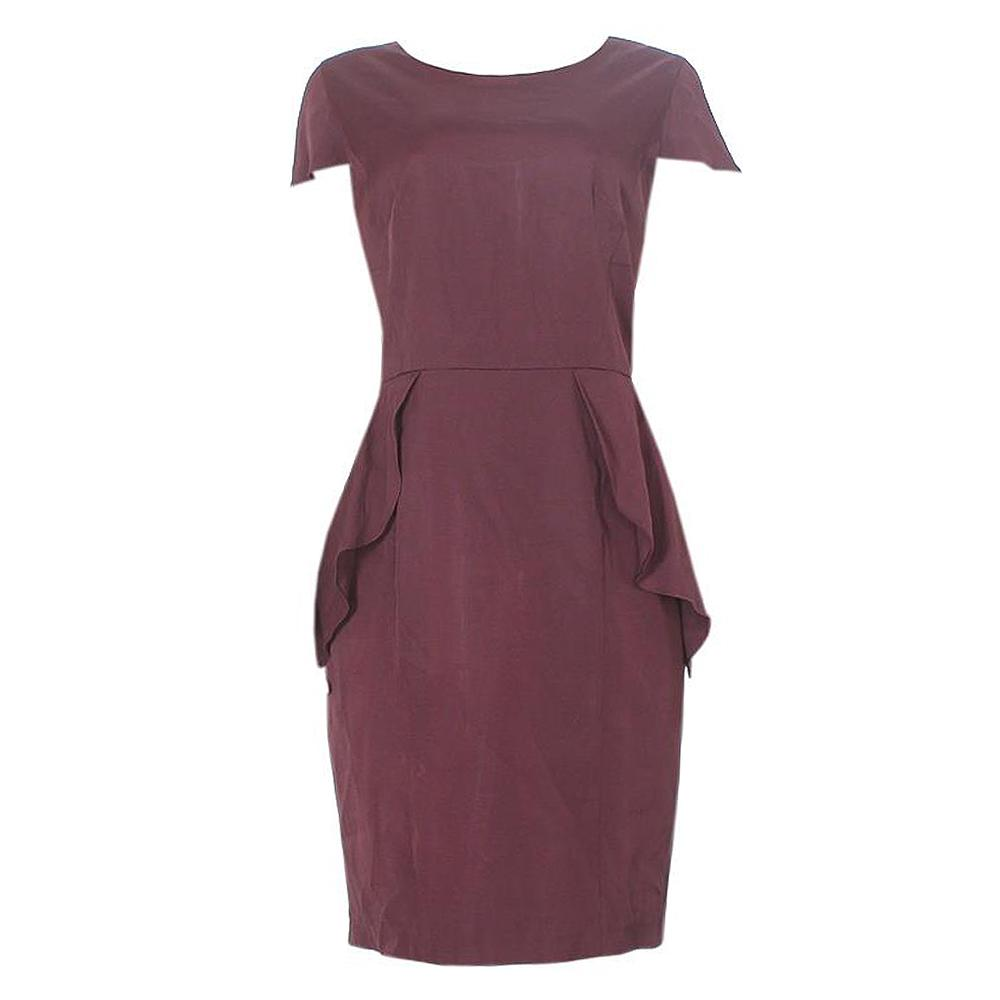 Per Una Wine Cotton Ladies dress-Sz 18