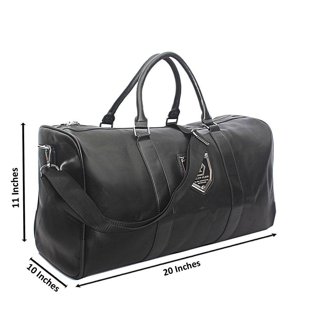 Black Leather Vintage Boston Bag