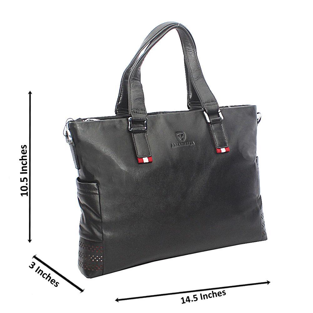 Black Stylish Man Numero Zip Tote Man Bag