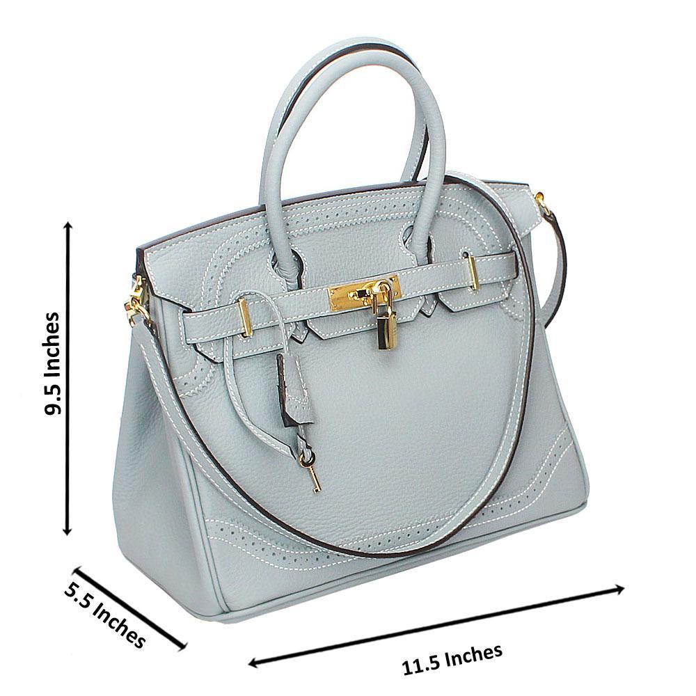 Gray Pebbled Montana Leather Birkin Handbag