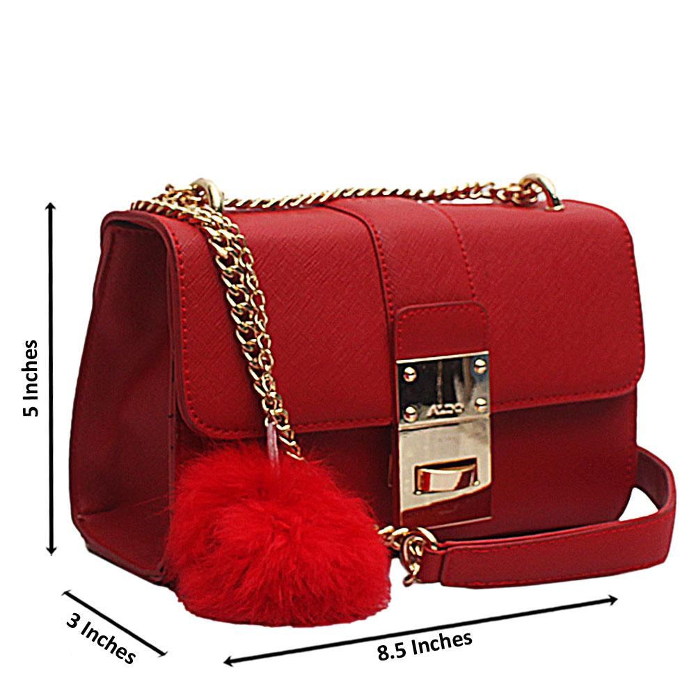 Aldo Red Leather Small Cross Body Bag