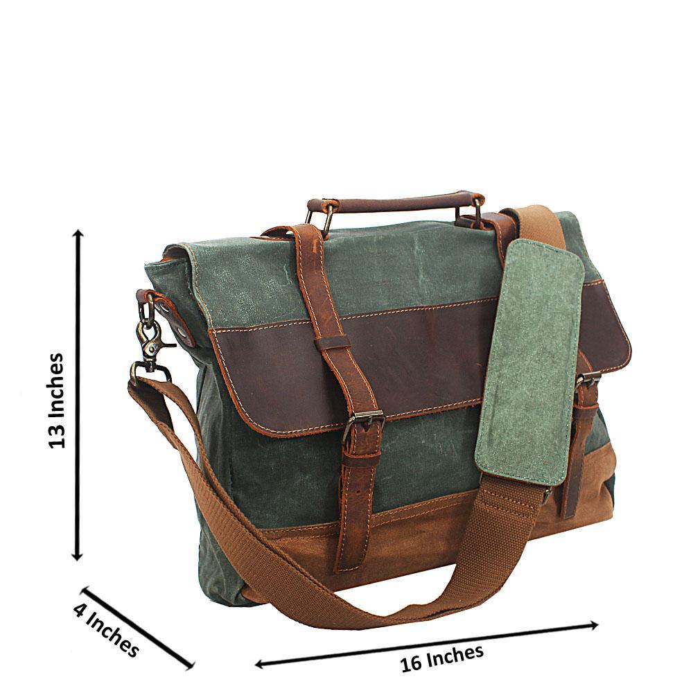Green Water Proof Khaki Messenger Bag