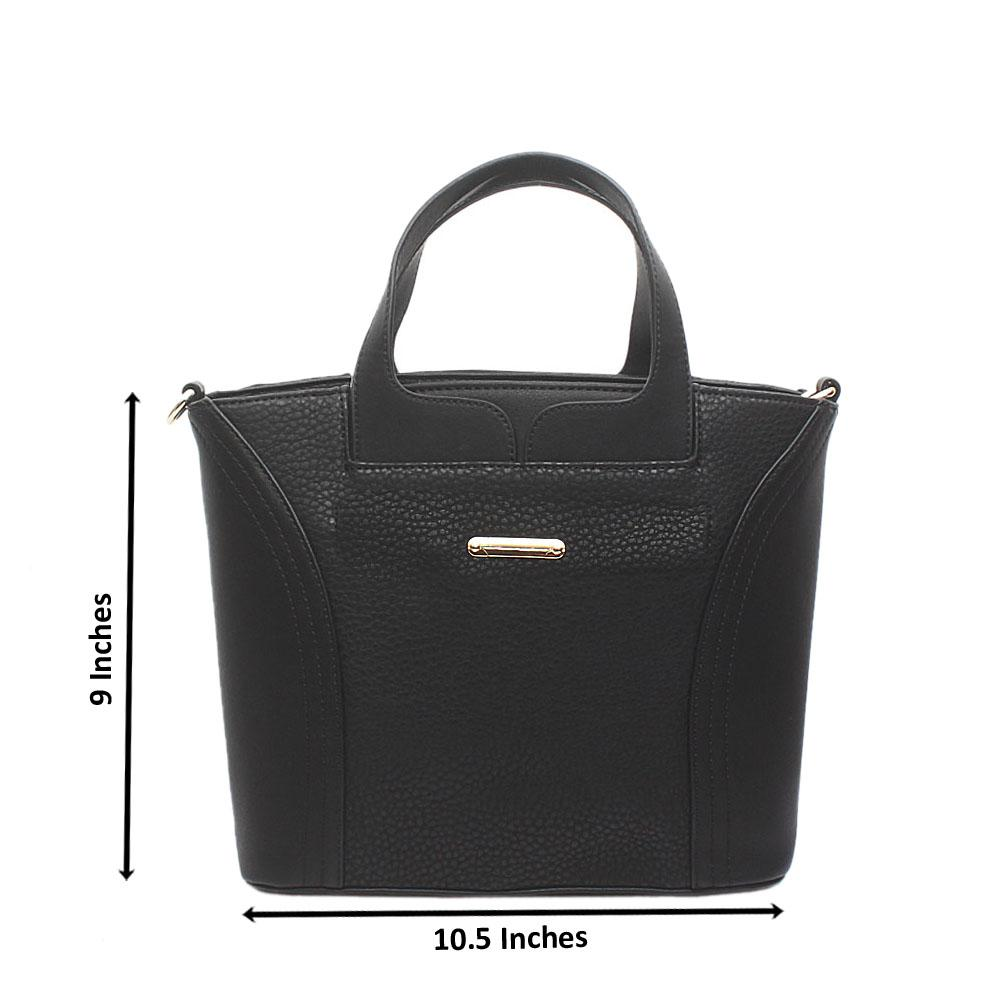 Ghost Black Leather Handbag