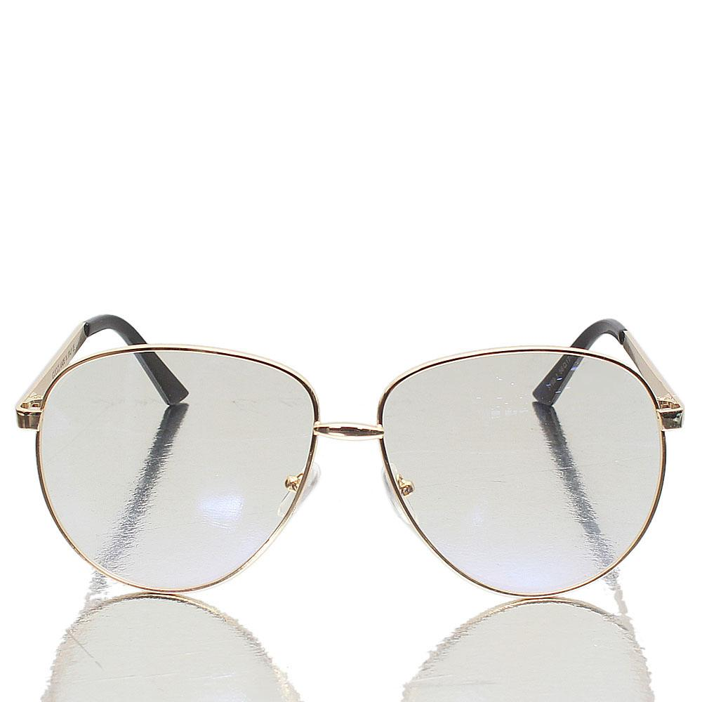 Gold Aviator Clear Lens Glasses